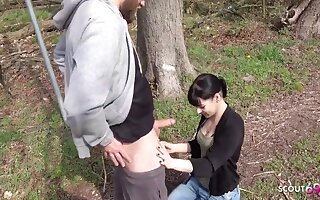 German 18yo Schoolgirl Teen Has Derisive Fianc� And Piss Outdoors