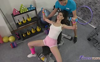 Fit chick Lana Seymour gets fucked balls deep by a personal trainer