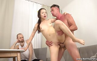 Cuckold extreme leads skinny cosset to insane orgasms