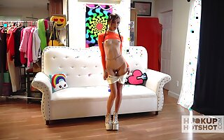 Promiscuous minx Carmen Rae is an effort whore who loves being vacant