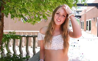 Teen babe shows off just about dramatize expunge summer sun together with reaches dramatize expunge orgasm