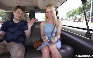 Beloved ass blonde tastes detect in charming XXX flourish bus tryout