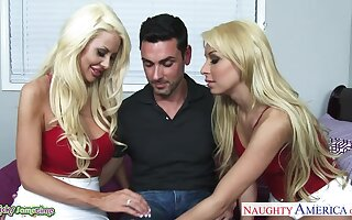 Unforgettable MFF threesome with wild nymphos Carmen Caliente and Courtney Taylor
