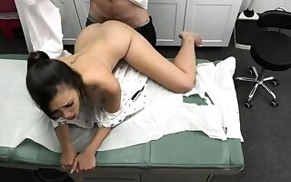 Doctor do you mind to nab up my tits?