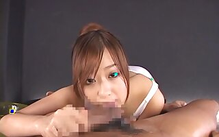 Asian girlfriend POV blowjob with beloved sweeping Miyu Hoshino