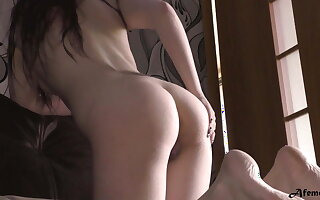 Hot Babe Sensually Massages Arms tick Bathroom