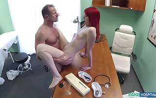 Red-haired floozy Anne Swix gets it on with her physician