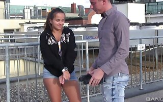 Smooth fucking on chum around upon annoy bed upon adorable girlfriend Olivia Nice