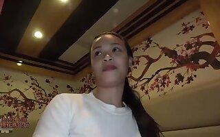 Young Thai floosie is pleasing her defy