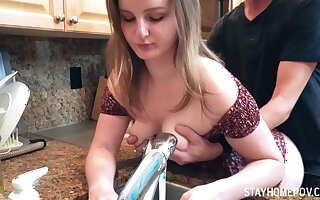 Inviting sexy spliced with nice rounded aggravation Eliza Eves is fucked from behind