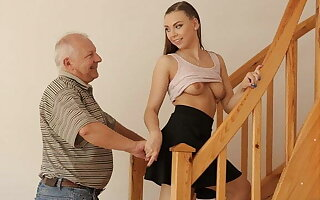 DADDY4K. Teen coquette gets banged by old do the groundwork