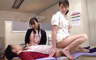 asian kinky nurses threesome sex
