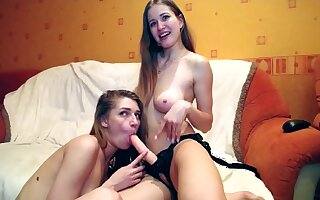 Ill-tempered teen girls lesbian strapon sex